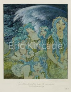 The mermaids wait for a ship