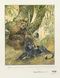 Jungle Book page 28 Mogli with panther and bear