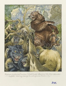 Jungle Book page 45 panther & bear fight the apes