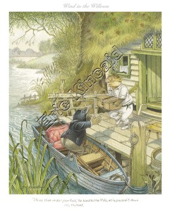 Ratty & Mole in their Rowing Boat